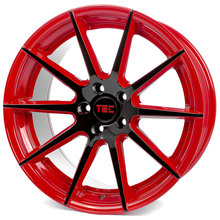 Tec Speedwheels GT-7 black red