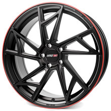 Motec Supreme flat black with red ring