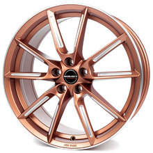Borbet LX copper matt spoke rim polished