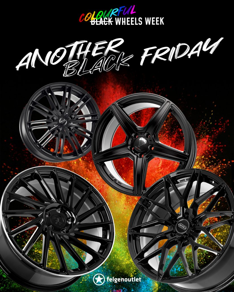 ANOTHER BLACK FRIDAY Colourful Wheels Week