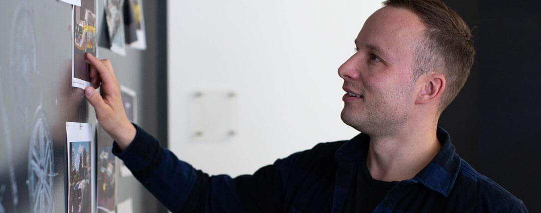 René in der Planungsphase für den Audi A1 als Projektfahrzeug von Wirthgen Individual