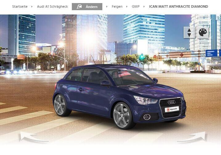 Audi A1 Schrägheck mit GMP Ican matt anthracite diamond