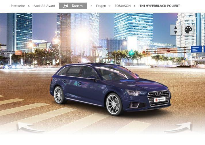Audi A4 Avant mit TOMASON TN1 hyperblack poliert