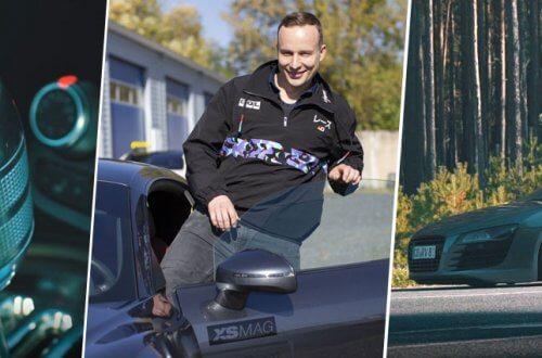 René ist für F-Garage zu Besuch bei Danilo und seinem Audi R8 V8