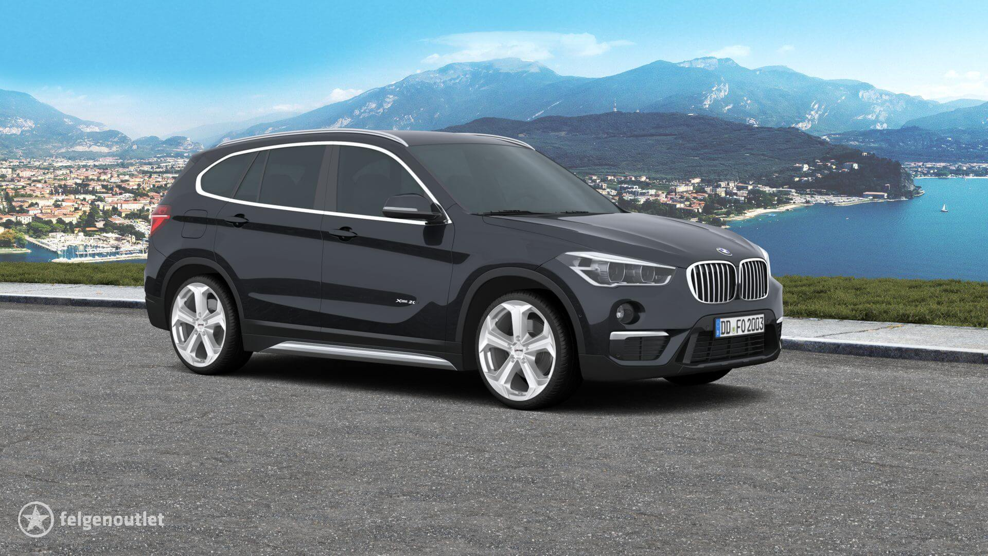 Autec Xenos brillantsilber auf BMW X1 Kompakt-SUV