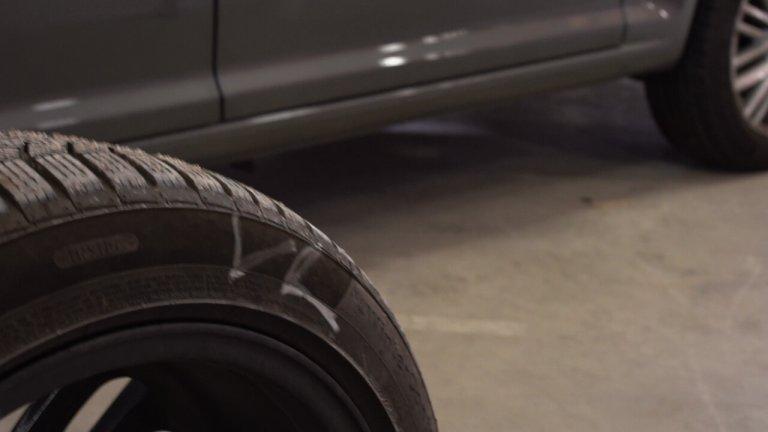Reifen vor der Einlagerung beschriften