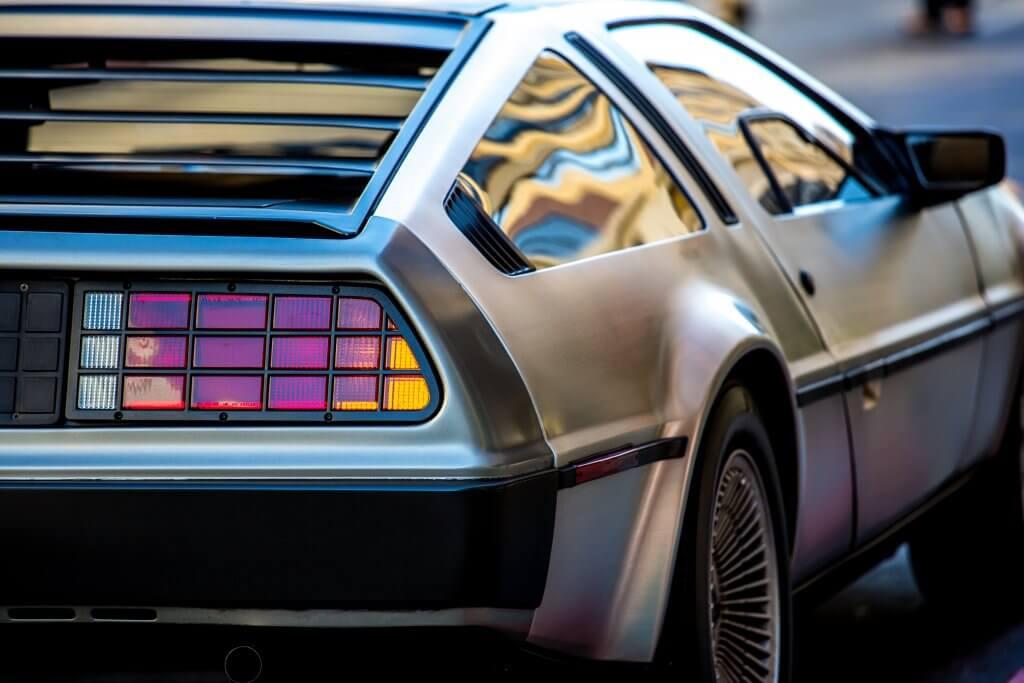 DeLorean Rueckansicht