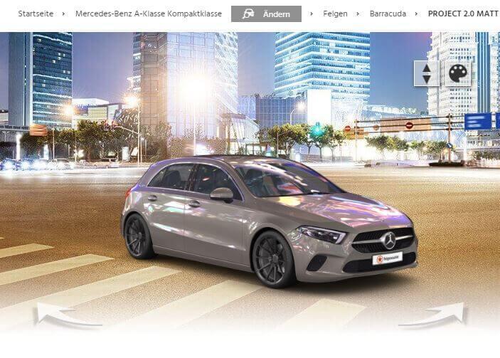 Mercedes-Benz A-Klasse mit Barracuda Project 2.0 matt gunmetal