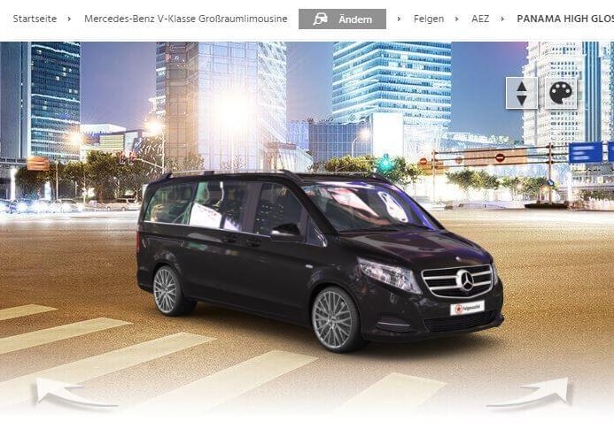 Mercedes-Benz V-Klasse mit AEZ Panama high gloss_