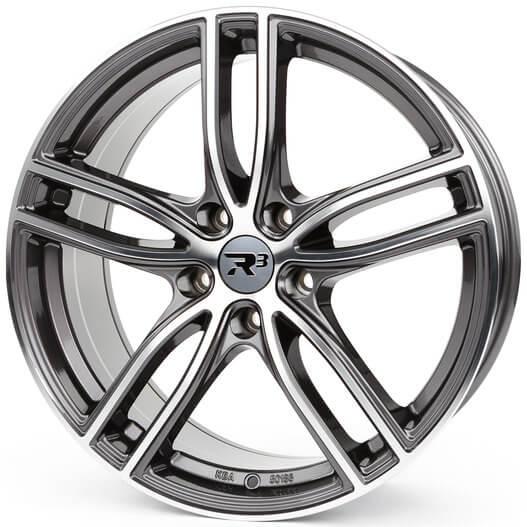 R3 Wheels R3H01 anthrazit-polished