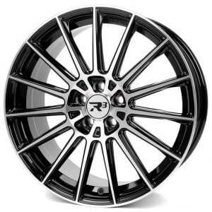 R3 Wheels R3H07 black-polished