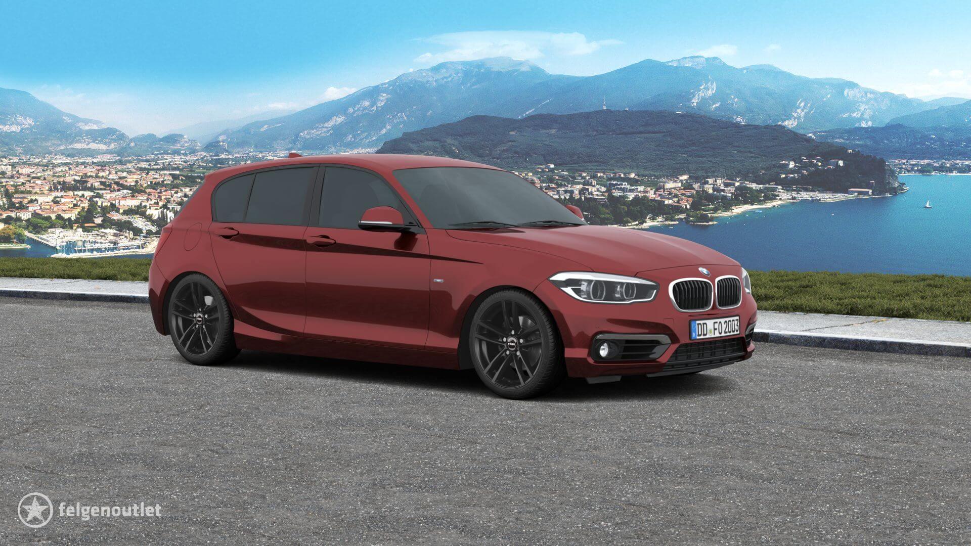 Rial X10 racing-schwarz BMW 1er Schrägheck