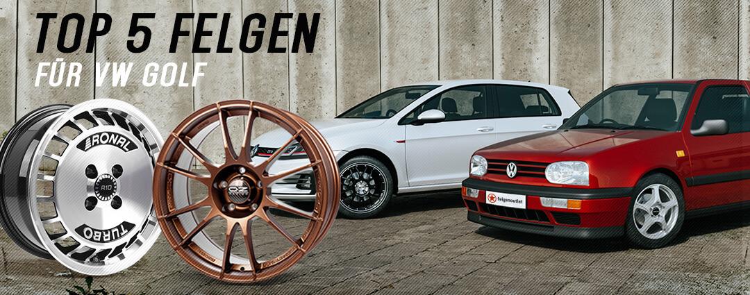 TOP 5 Felgen für VW Golf