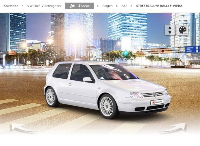 VW Golf 4 mit ATS Streetrallye rallye-weiss