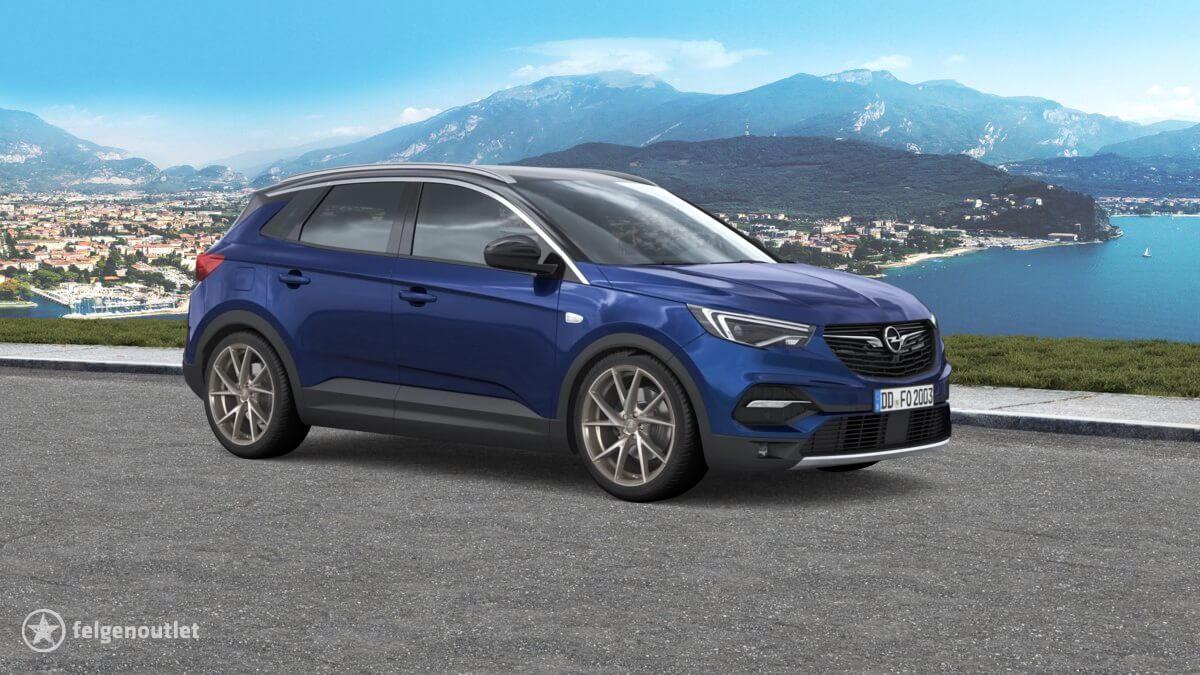 Alutec ADX.01 metallic platinum frontpoliert Opel Grandland X SUV