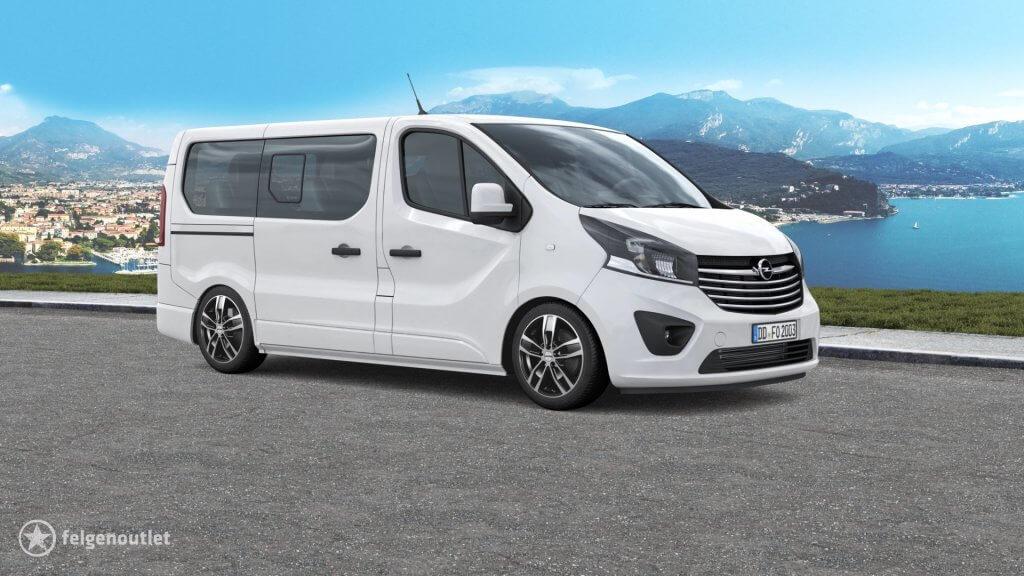 Autec Quantro 5-Loch schwarz poliert Opel Vivaro Kleintransporter