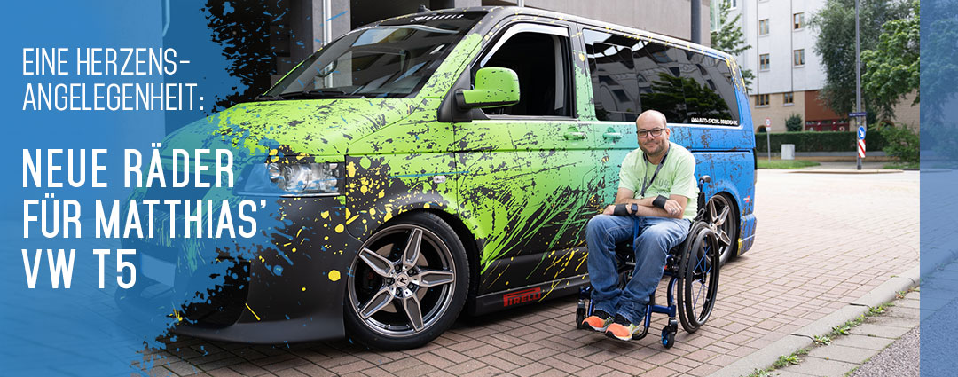 Eine Herzensangelegenheit: R3 Wheels Felgen & Pirelli Reifen für Matthias' Bus