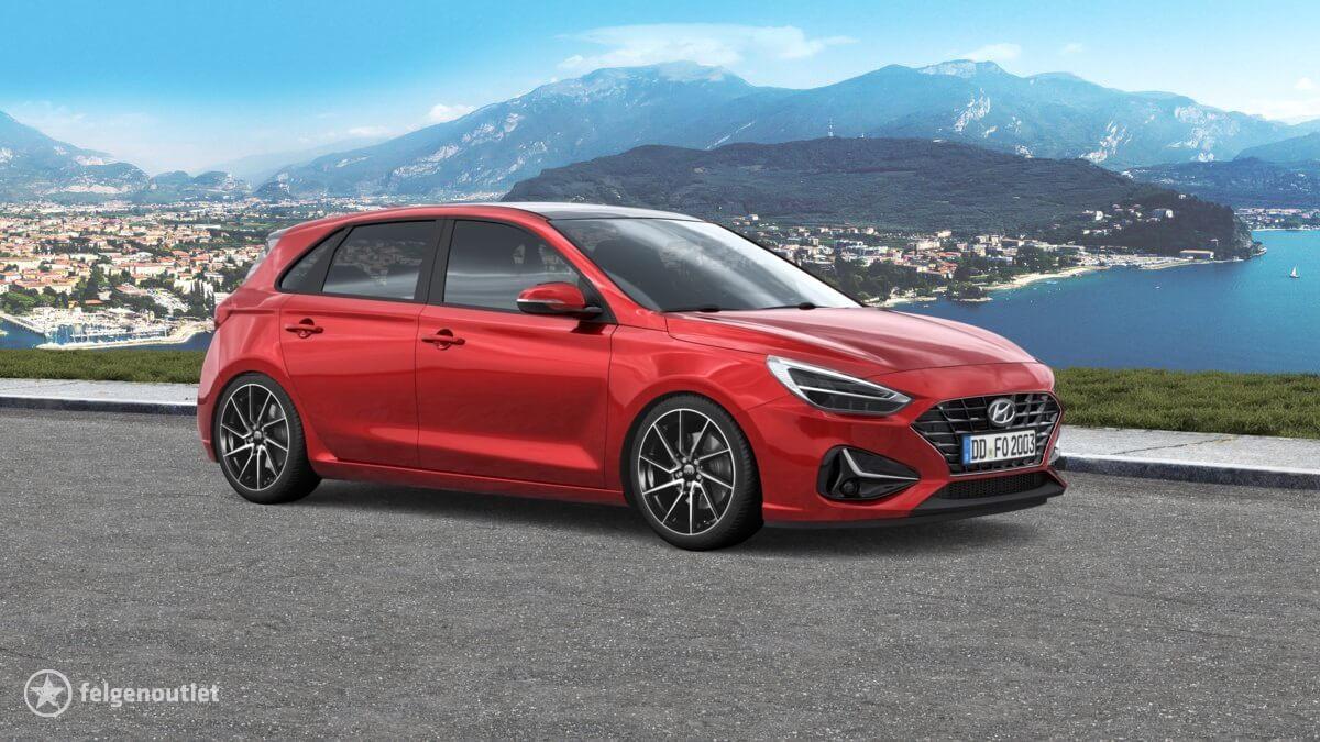 Dotz Spa black/polished front Hyundai i30 Schrägheck