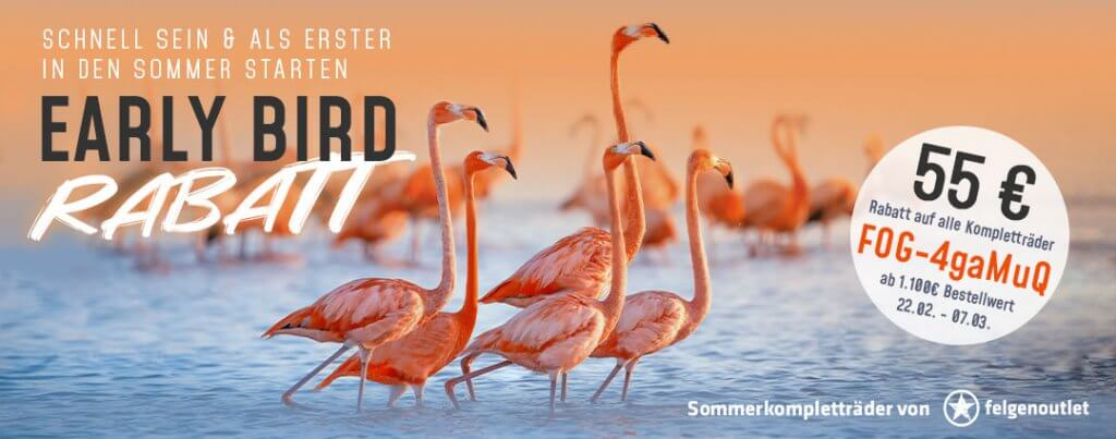 Early Bird Rabatt Aktion 2021