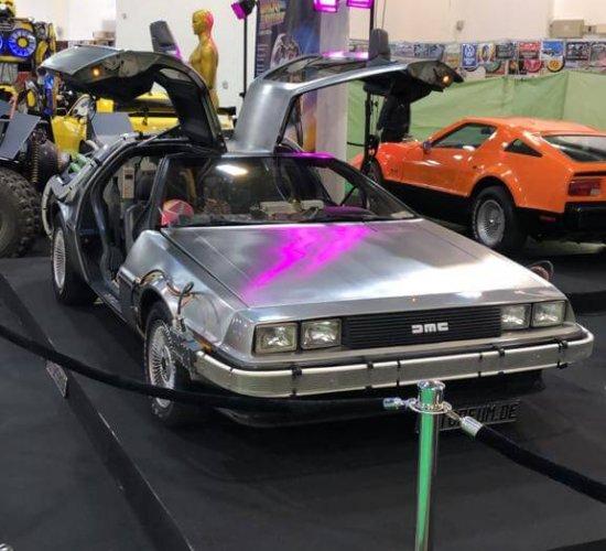 DeLorean als Austellungsstück