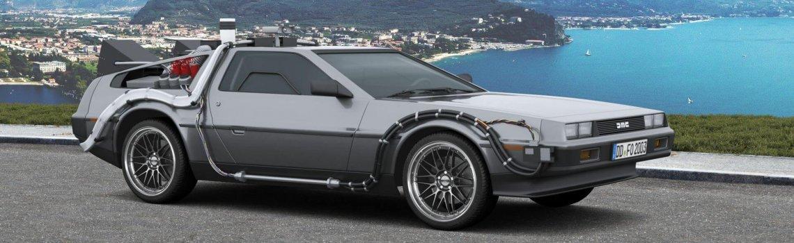 DeLorean im 3D-Konfigurator mit Dotz Revvo gunmetal polished