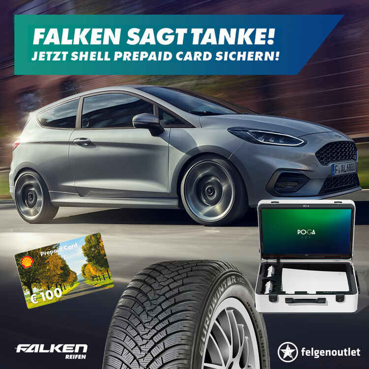 Falken sagt Tanke Reifenaktion: Tankgutschein sichern und Preise im Wert von bis zu 10.000 € gewinnen