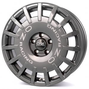 OZ Rally Racing dark graphite + silver lettering