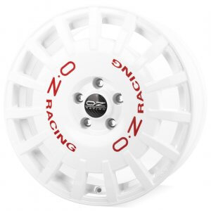 OZ Rally Racing race white & red lettering