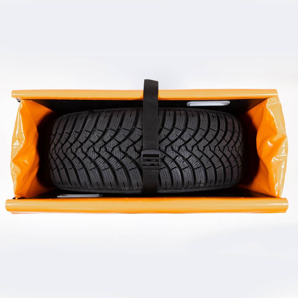 Rad in Tyrepack festschnallen
