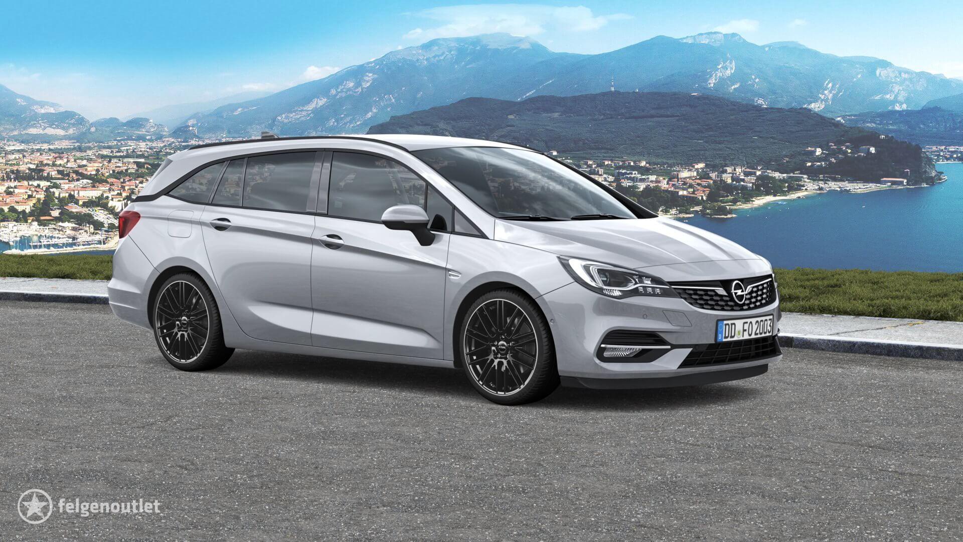 Rial Kibo diamant-schwarz hornpoliert Opel Astra K Sports Tourer