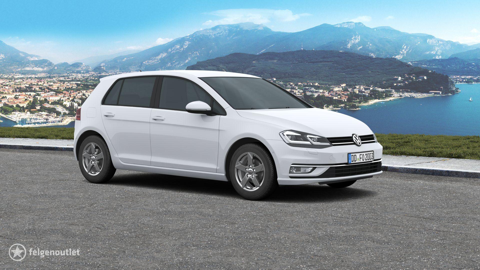 Rial Kodiak graphit auf VW Golf VII Schrägheck