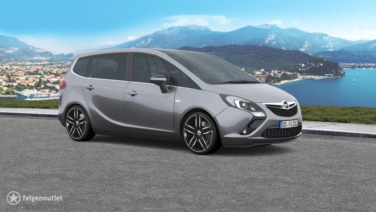 Ronal R58 schwarz frontkopiert Opel Zafira Tourer Kombi
