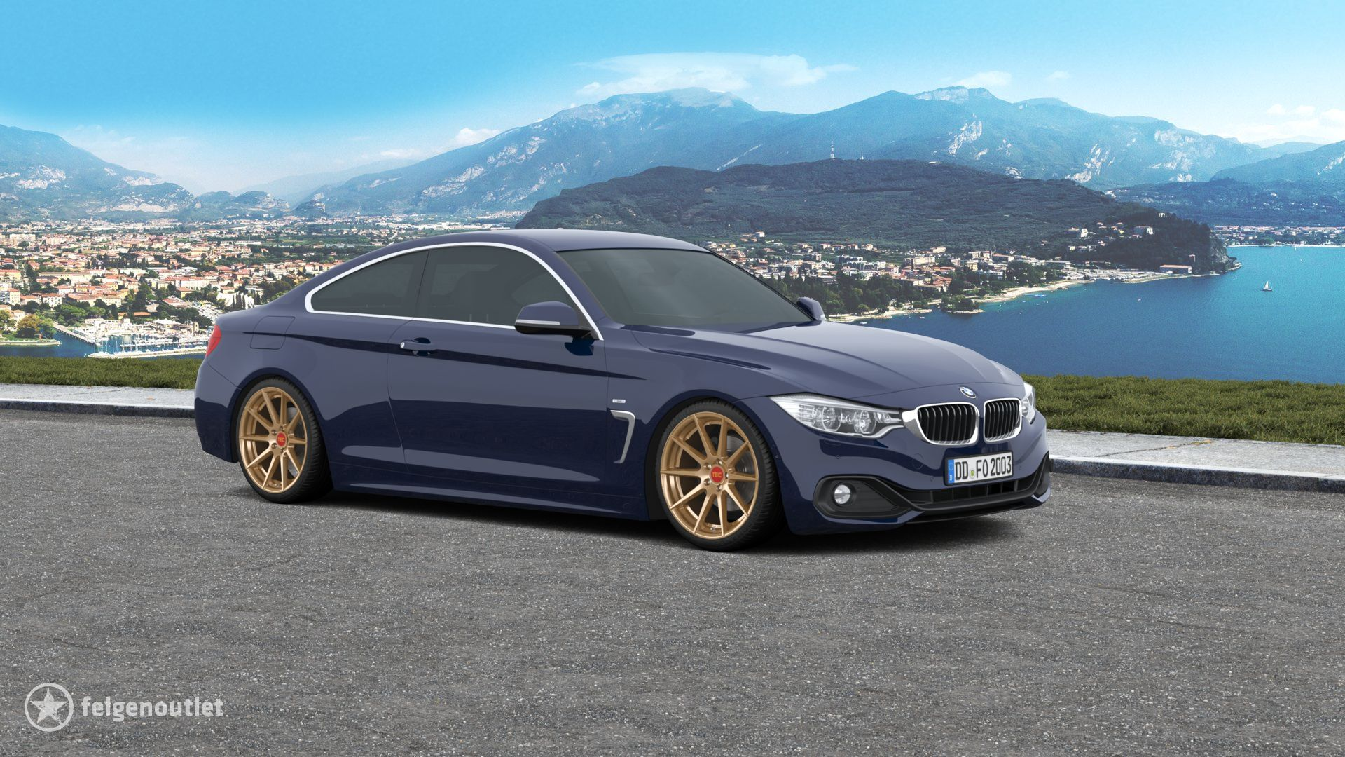 Tec Speedwheels GT-7 gold BMW 4er Reihe Coup