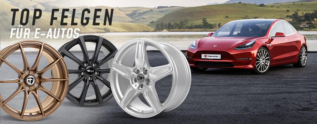 TOP Felgen für E-Autos: Tesla, Audi, VW, Skoda, Kia, Renault uvm.