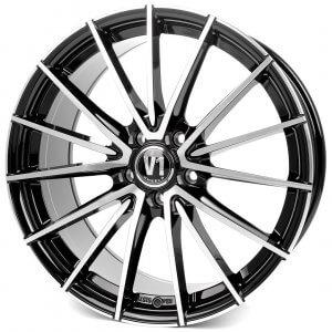 V1 Wheels V2 schwarz hochglanzpoliert