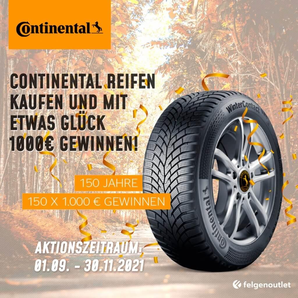 Reifenaktion Continental