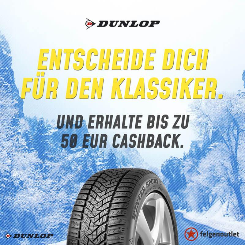 Dunlop Cashback-Reifenaktion