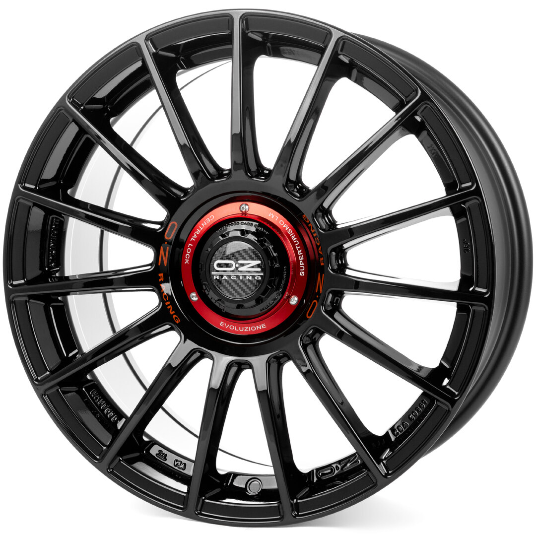 OZ Superturismo Evoluzione Gloss Black + Red Lettering