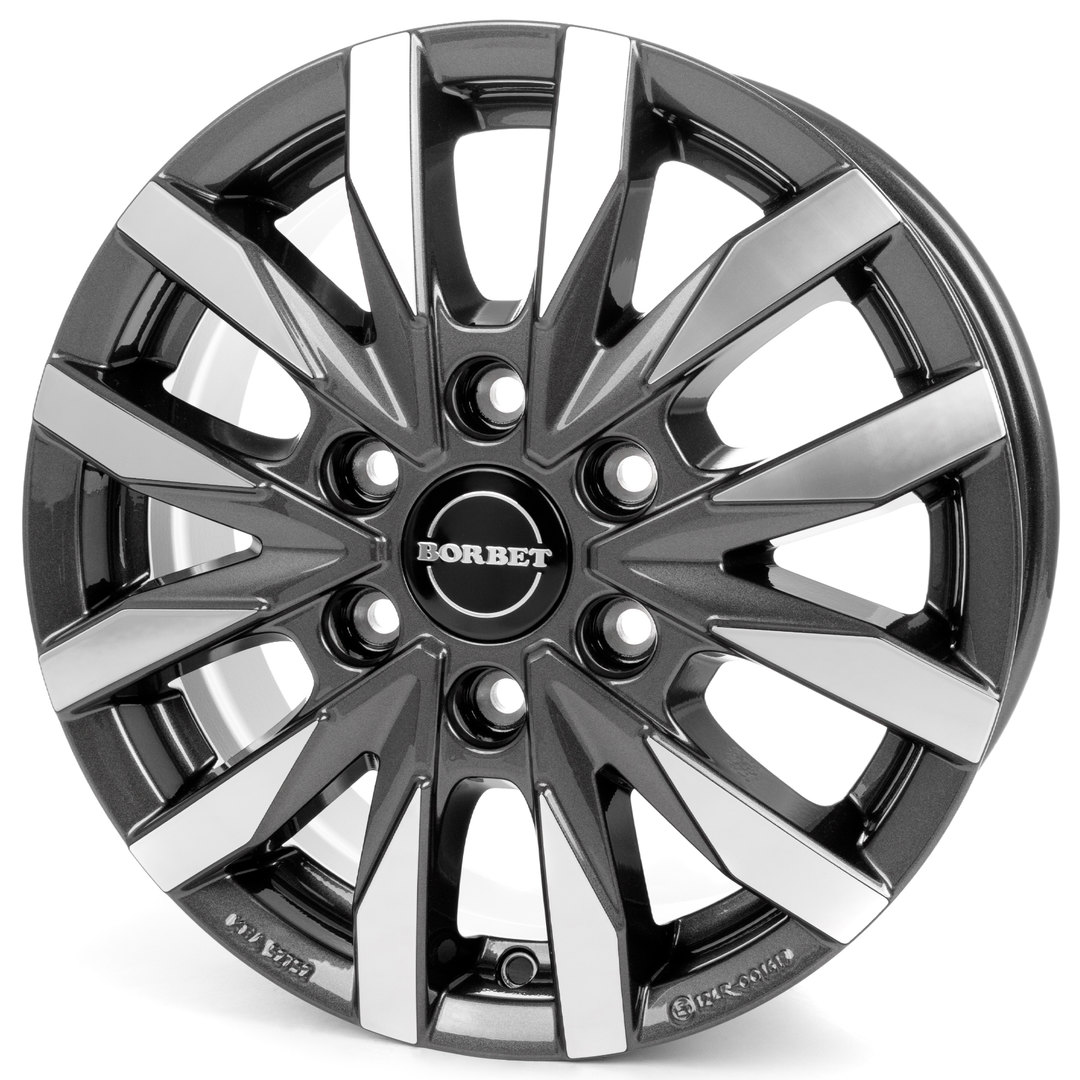Borbet CW 6 mistral anthracite glossy polished