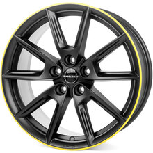 Borbet LX18 black matt rim yellow