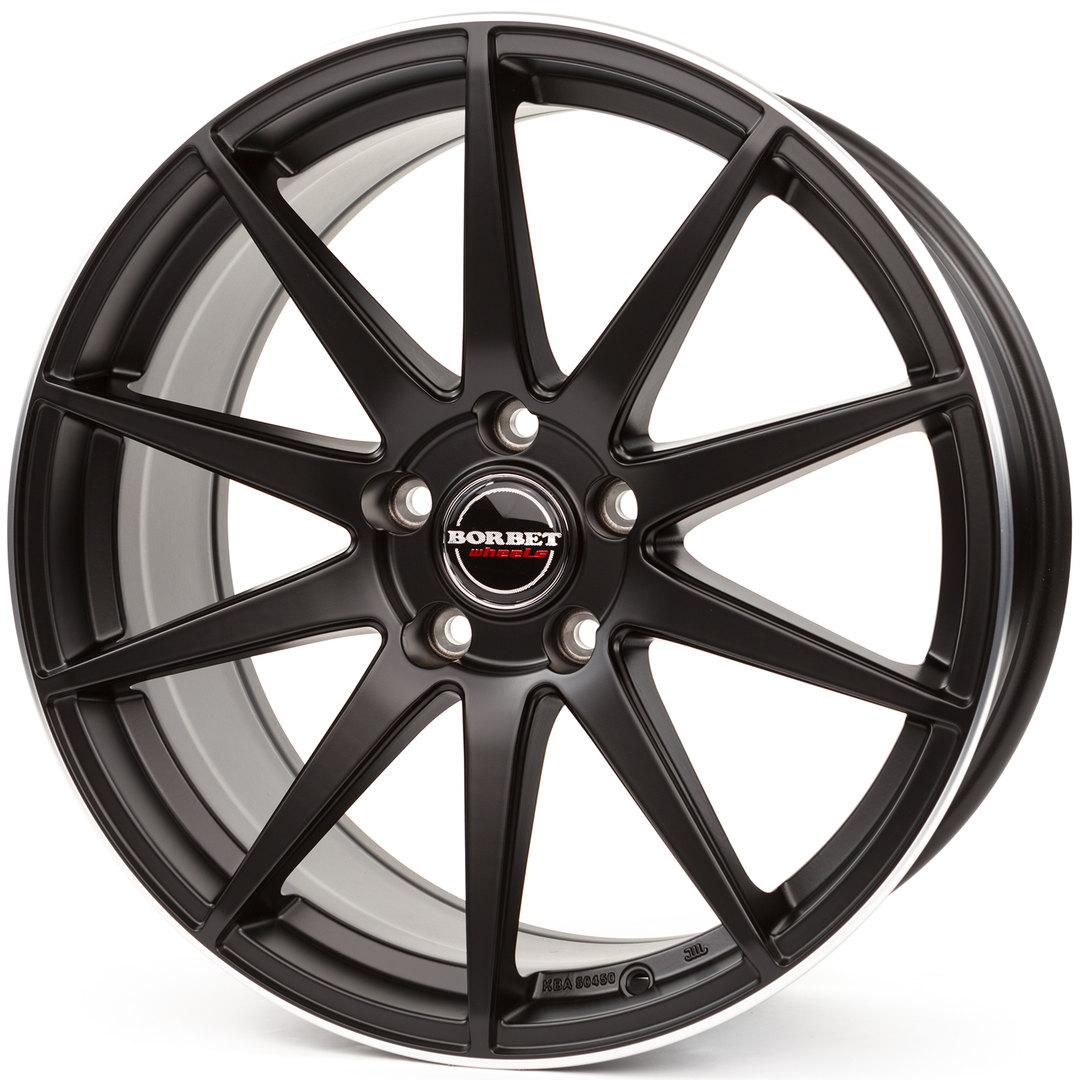 Borbet GTX black rim polished matt