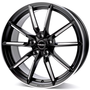 black matt spoke rim polished