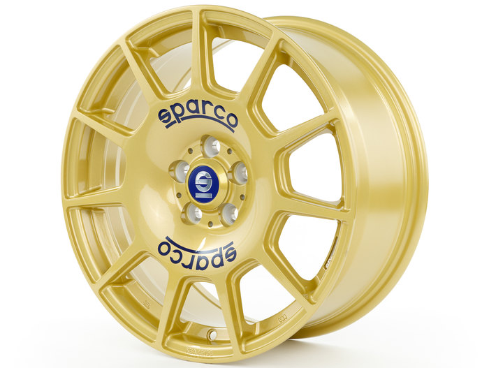 Sparco Terra Gold + Blue Lettering
