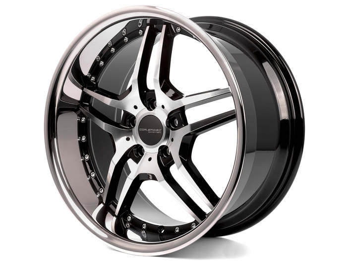 Corspeed Vegas Highgloss-Black polished inox lip